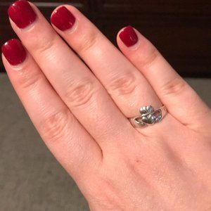 James Avery Sterling Silver Adorned Claddagh Ring